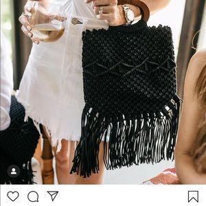 Danielle Nicole Black Fringe Bag